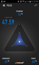 Babolat Play App Pulse Screen
